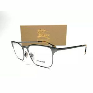 Burberry Men's Gunmetal Rubber Eyeglasses!